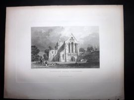 After Allom 1846 Antique Print. Llanercost Priory, Cumberland